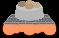 フタ付きグリルの代用